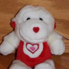 Walmart Red and White Plush Monkey Gorilla Teddy Bear Valentine Hearts