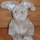 Target Galerie Tan Beige Plush Bunny Rabbit Pink Nose Blue Eyes Fluffy White Tail