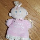Kids 2 Grow Plush Blond Baby Doll Pink Dress Nightgown Mamas Blessing