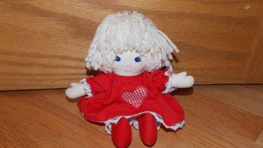 Pauline Bjonness Jacobsen Ragdoll Yarn Hair Red Heart Dress