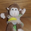 Fiesta Brown Monkey with Tan Green Banana Blanket Babies A22513