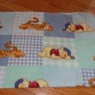 Disney Baby Winnie the Pooh Tigger Sleeping Blue Green Fleece Patchwork Plaid Baby Blanket