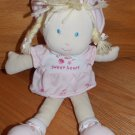 Carters Pink Plush Sweetheart Baby Doll Pink Flower Dress Braids 27896