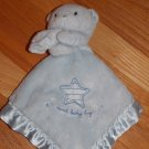 Carters Just One Year Sweet Baby Boy Blue Teddy Bear Security Blanket Lovey Star
