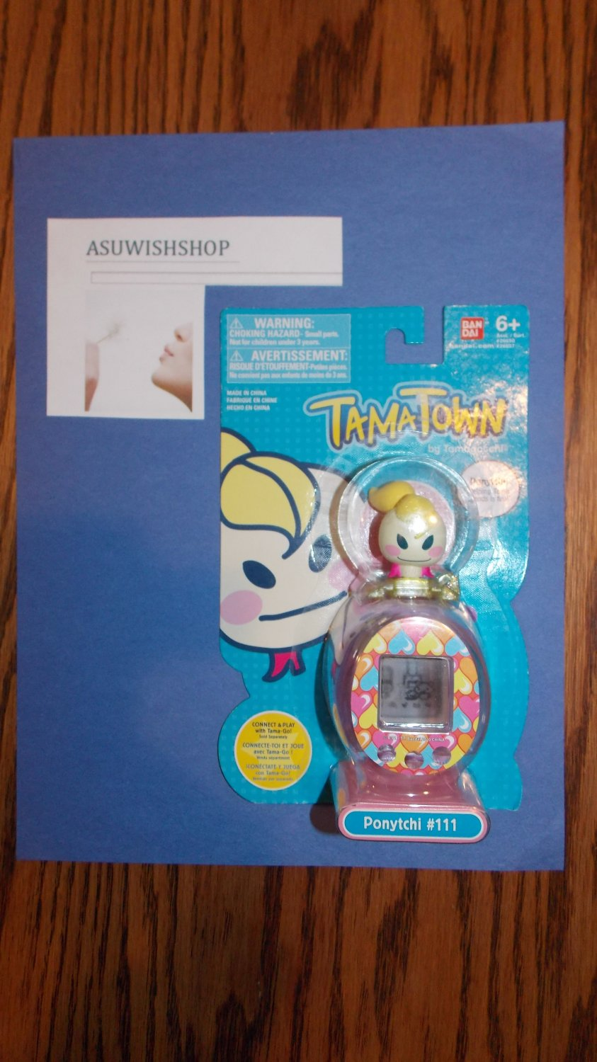TamaTown Ponytchi #111 Figure and Faceplate for Tamagotchi Tama Go