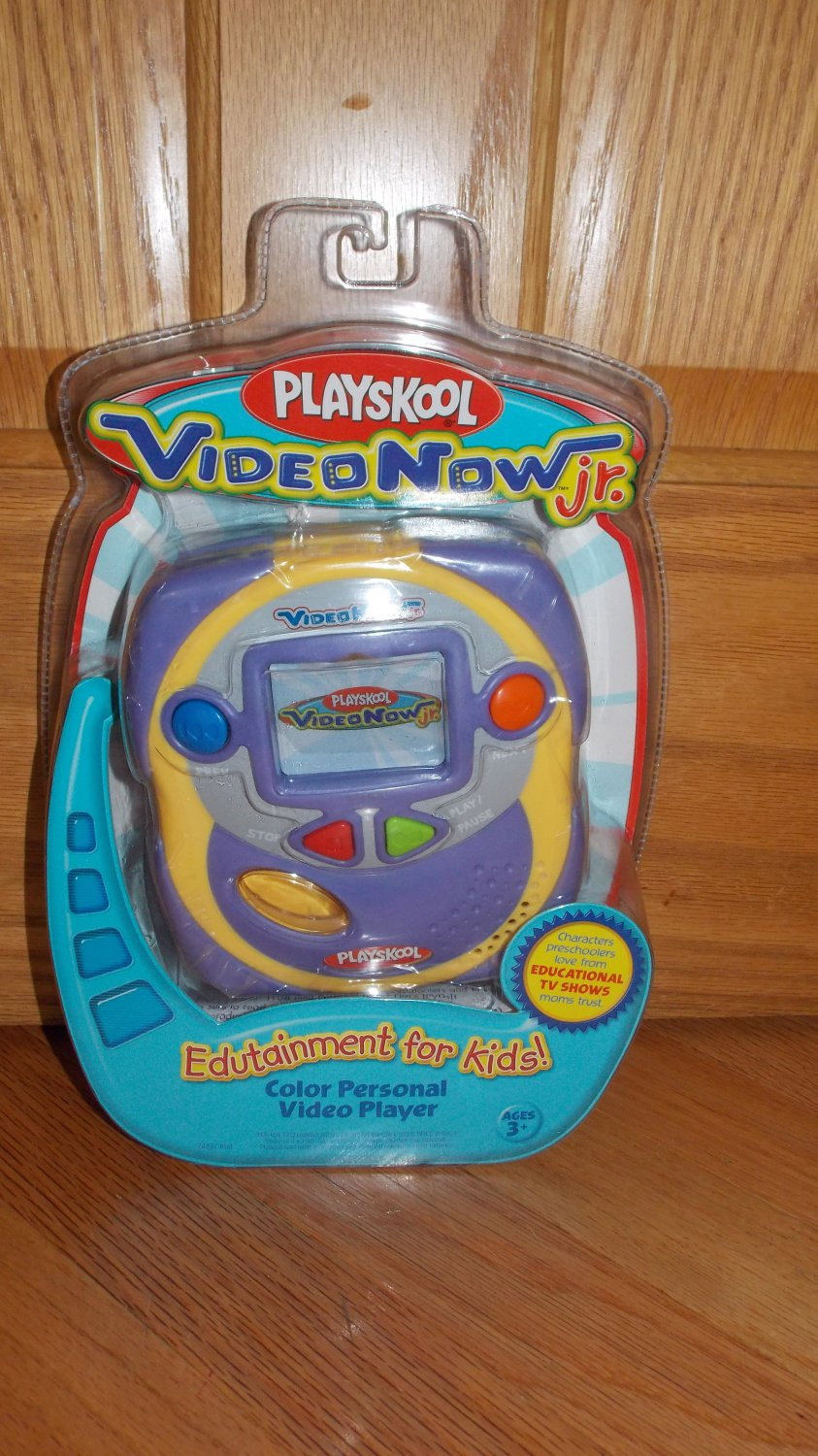 Playskool Video Now Jr. Color Personal Video Player System for Kids Purple Yellow
