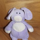 Mary Meyer Plush Purple Lavender Bunny Rabbit Purse Zipper Bag Pouch Holder