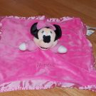 Disney Pink Minnie Mouse Security Blanket Lovey Crinkle Ears