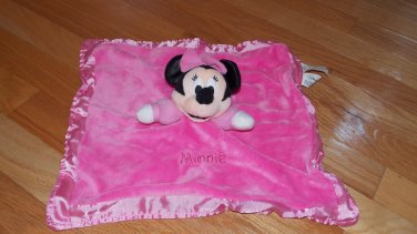 Disney Pink Minnie Mouse Security Blanket Lovey Crinkle Ears