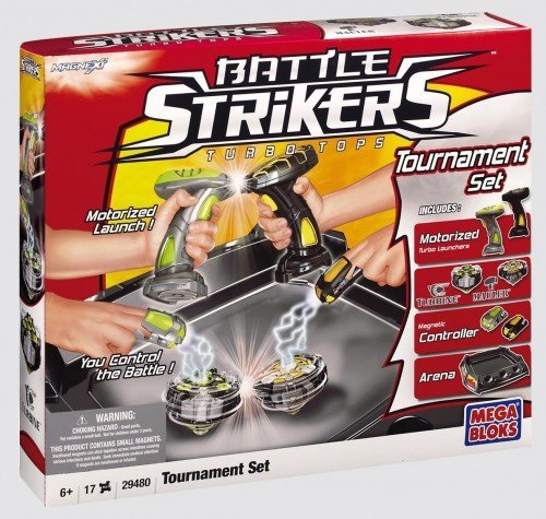 Mega Bloks Magnext Battle Strickers Turbo Tops Motorized Tournament Set 29480
