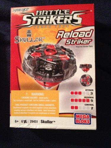 Mega Bloks Battle Strikers Turbo Tops Reload Striker Series 1 Skullor Magnext