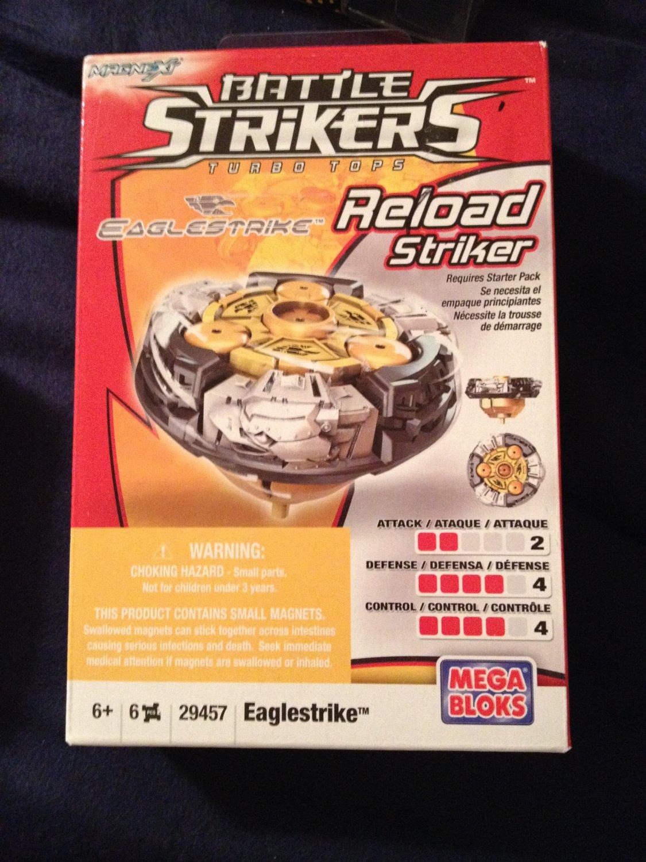 Mega Bloks Battle Strikers Turbo Tops Reload Striker Series 1 Eaglestrike Magnext