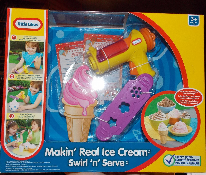 Little Tikes Makin' Real Ice Cream Swirl 'n Serve Kitchen Fun