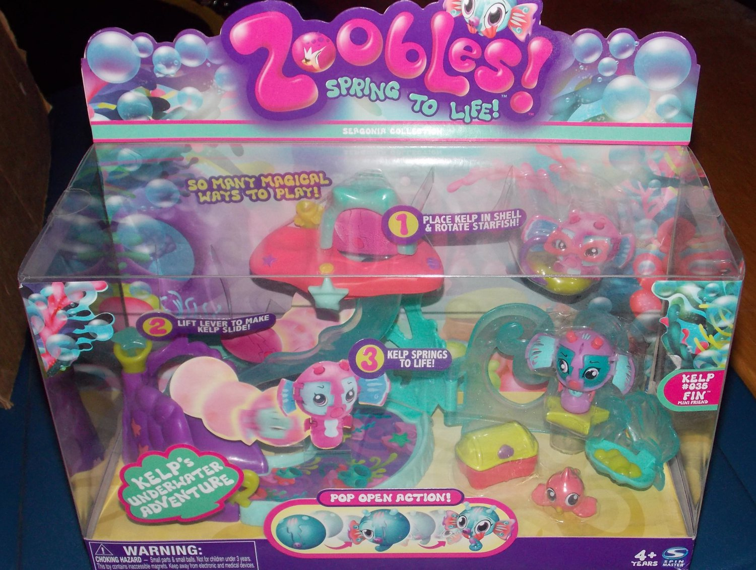 Spin Master Zoobles Seagonia Collection Kelp's Underwater Adventure