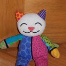 Britto Romero Popplush for Enesco Coco Plush Kitty Cat Colorful Mixed Print Coco 4024562