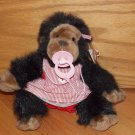Vintage 1984 My Chimp Plush Brown Monkey Ape Gorilla Nurse Red White Candystripe Pacifier 2200