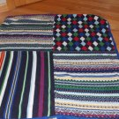 Baby Gap Navy Blue Sweater Knit Stripe Argyle Fair Isle Fleece Baby Blanket