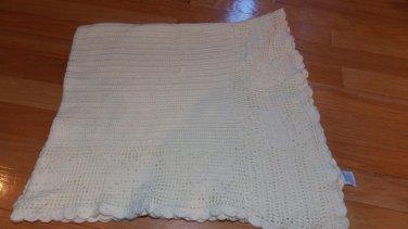Gymboree 2000 Yellow Knit Crochet Butterfly Baby Blanket