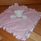 Carters OS Pink White Plush Kitty Cat Security Blanket Little Angel Lovey X24315H