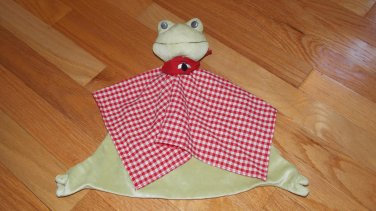 Ikea Fabler Groda Frog Baby Blanket Security Lovey Red Gingham Black Fly