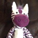 Target Circo Plush Purple White Zebra Toy Black Oval Eyes