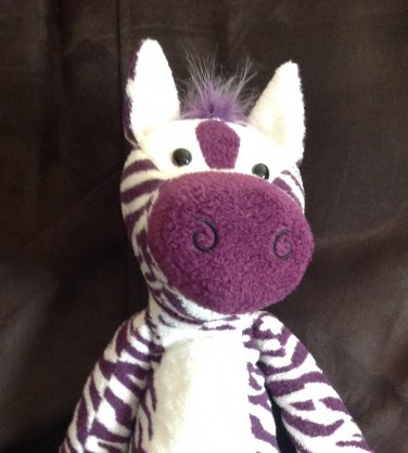 Target Circo Plush Purple White Zebra Toy Black Oval Eyes