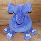 Animal Alley Toys R Us Purple Plush Elephant Blue Spots Front Feet White Nails Toy Pillow