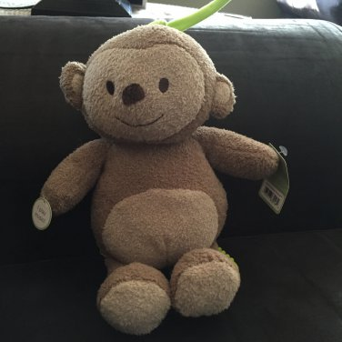 Carters Just One You Beige Tan Musical Monkey with Green Tie 63016