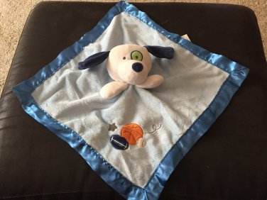 Target Circo Sports Balls White Puppy Dog Blue Security Blanket Plush Baby Toy Lovey