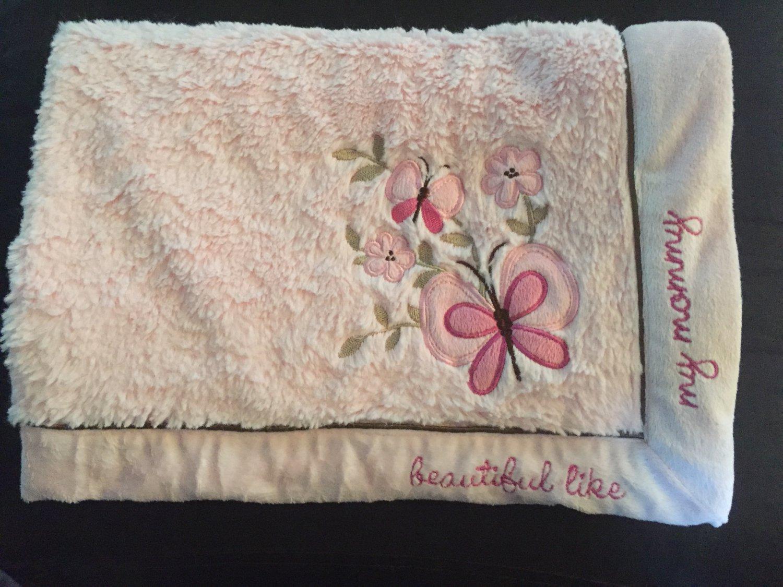 Koala Baby Pink Butterflys Flowers Beautiful Like My Mommy Baby Blanket Item 3748630K13