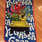 Yo Gabba Gabba Plush Toddler Size Crib Blanket Plex Brobee Foofa Muno Toodee