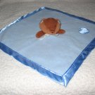 Cuddlesomes Blue Security Blanket Lovey with Brown Bear