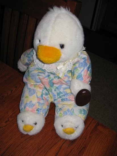 The Windsor Collection Plush Duck Doll Lovey Heart to Heart