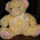 Carter's Musical Soft Yellow and Pink Teddy Bear Beautiful