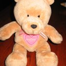 Just one Year Tan Teddy Bear with Heart Sweetheart Musical Lights