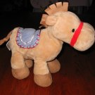 Just one Year Carter's Tan Plush Horse Blue Saddle Lovey #98681