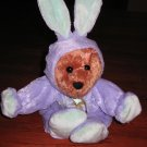 Plush Teddy Bear in Rabbit Costume