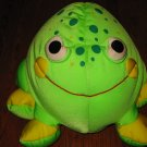 Moshi Round Green Frog Microbead Plush Lovey Pillow