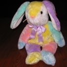 Ty Beanie Buddy Bunny Rabbit named Dippy 2003 Easter colors