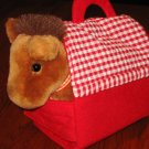 Caltoy Plush Horse with barn carrier