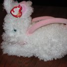 2005 Classic Retired TY White Bunny  Rabbit Purse named Hutch Clutch