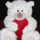 Hallmark Heartly White Bear Talking Hugging Heart Plush