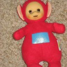 Po is a Red Teletubbie made by Playskool Plush Talking Doll