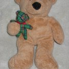 Ty Pluffies Beary Merry tan Teddy Bear Plush Toy