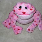Ganz Pink Plush Frog with red hearts Webkinz Love Frog