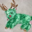 Retired TY Beanie Sleighbelle the Reindeer Green
