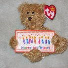 TY Happy Birthday Teddy Bear Beanie Babies Line Plush