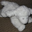 Baby Gund White Lamb named Winky Plush Baby Rattle