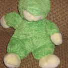 Russ Berrie Pale Yellow Teddy Bear in Frog Suit Plush Toy