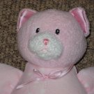 Baby Gund Dottie Dots 58243 Pink Kitty Cat plush Rattle doll